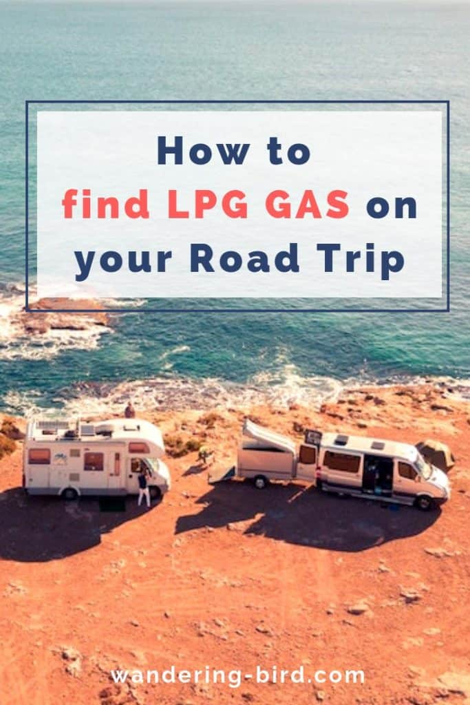 Looking to find LPG gas on your Road Trip? Whether you're in an RV, Motorhome or Camper, these tips will help. #rvlife #rvliving #motorhometravel #roadtriptips #roadtrip #europe #gas
