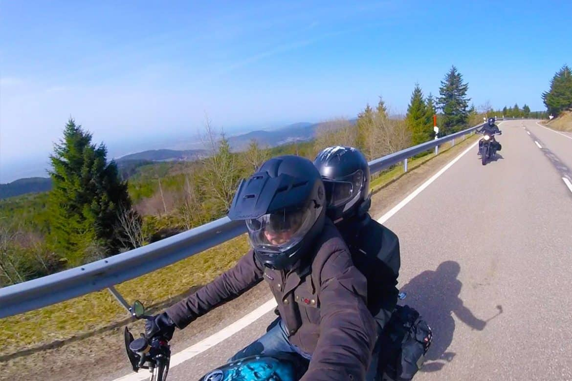 The Best Biker Road in the Black Forest- is it worth riding?? Absolutely!! #b500 #germany #motorbike #travel #bikerroad #roadtrip