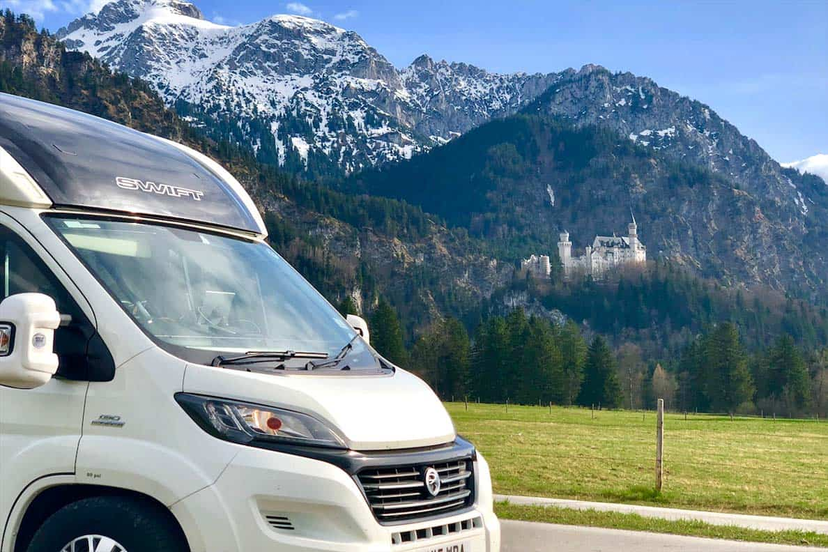 motorhoming in Germany- near Neuschwanstein Castle in Germany