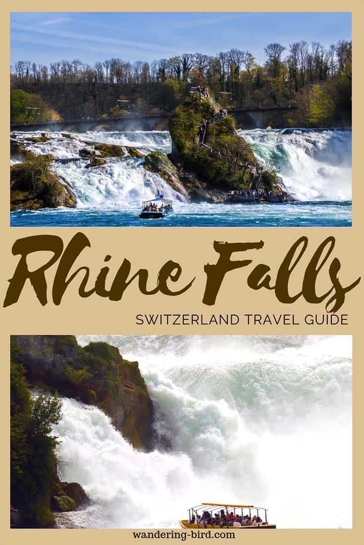 The Rhine Falls is the biggest waterfall in Switzerland- and it is SPECTACULAR! It's a perfect day trip from Zurich; definitely add it into your Switzerland and Europe itinerary! #rhinefalls #waterfall #switzerland #europe