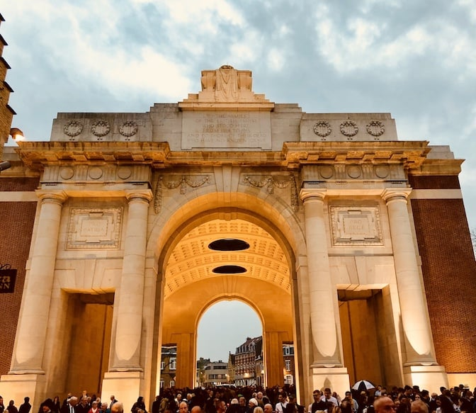 The Last Post ceremony at the Menin Gate war memorial ceremony is SPECTACULAR! Seriously- you need to see this incredibly moving ceremony and pay your respects. The Last Post at the Menin gate happens every single night at 8pm sharp. Here's all you need to know!