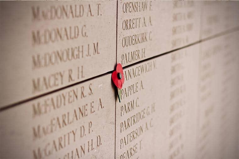 Menin Gate war memorial- how many names are on the Menin Gate