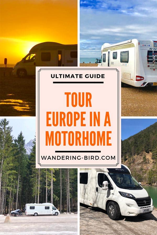 Ever wanted to tour Europe in a motorhome but were unsure how to even start! This incredible guide had everything you need to know- all laid out in an easy to follow manner. It's HUGE and packed with information- perfect for planning your motorhome trip around Europe. #motorhome #europe #roadtrip #travel #tips #hacks #ideas #touring #guide