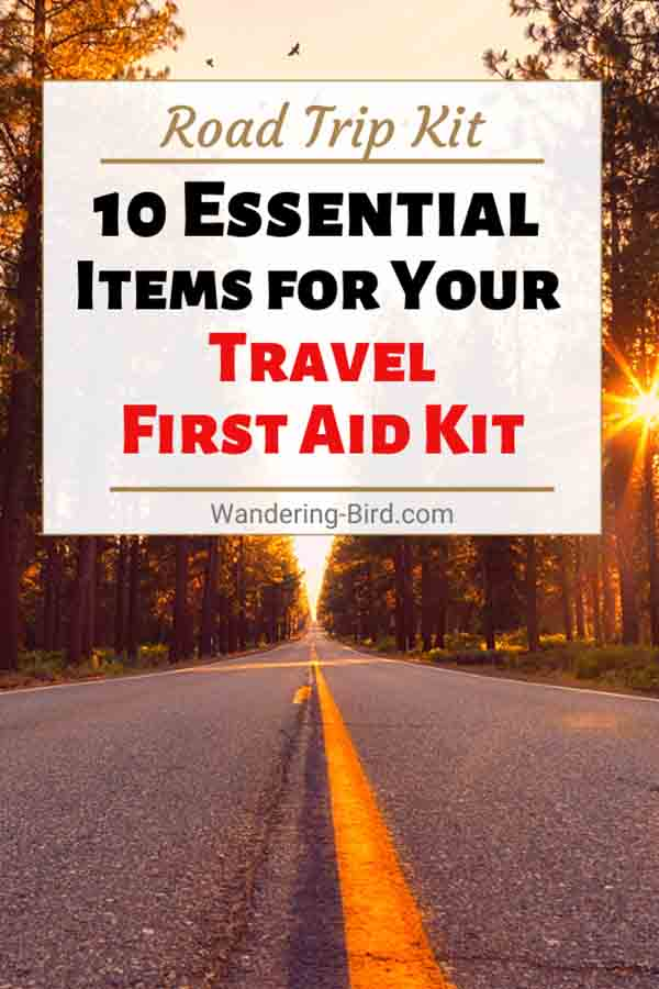 Do you know the 10 essential items you need in a car or RV first aid kit? Or how to pack a DIY first aid kit for road trip travelling? Here's what you need to know to comply with the law when travelling in France or Europe in a car, motorhome or need a camper first aid kit. Travel tips | Travel first aid kit | Motorhome Travel | Road Trip tips | Road trip Kit | Road trip planning | Europe Road Trip | Car first aid kit | Car travel