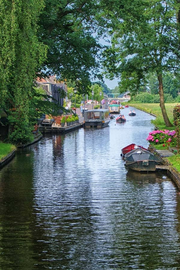 Canal at Giethoorn Village