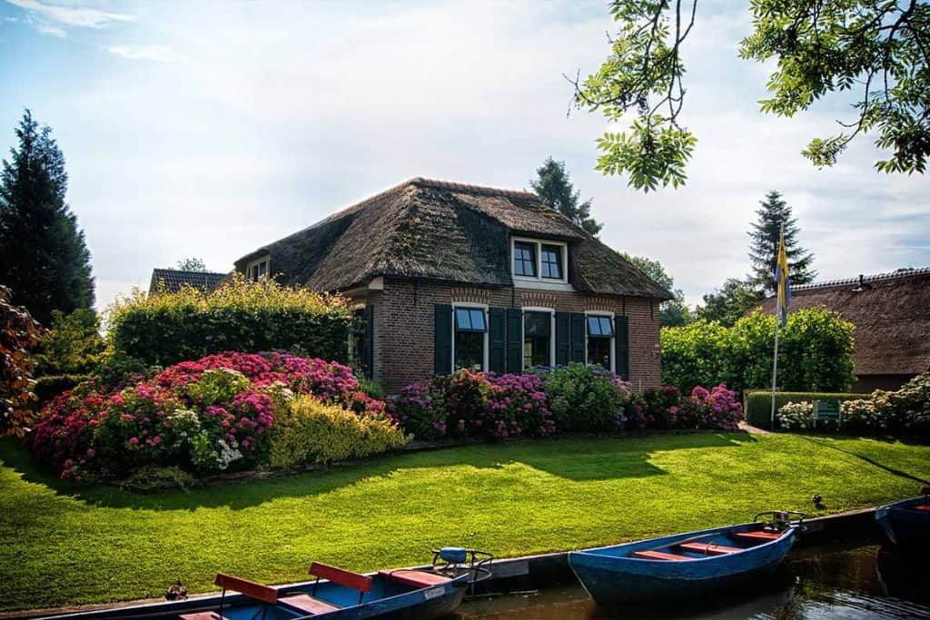 House in Giethoorn Village, Netherlands