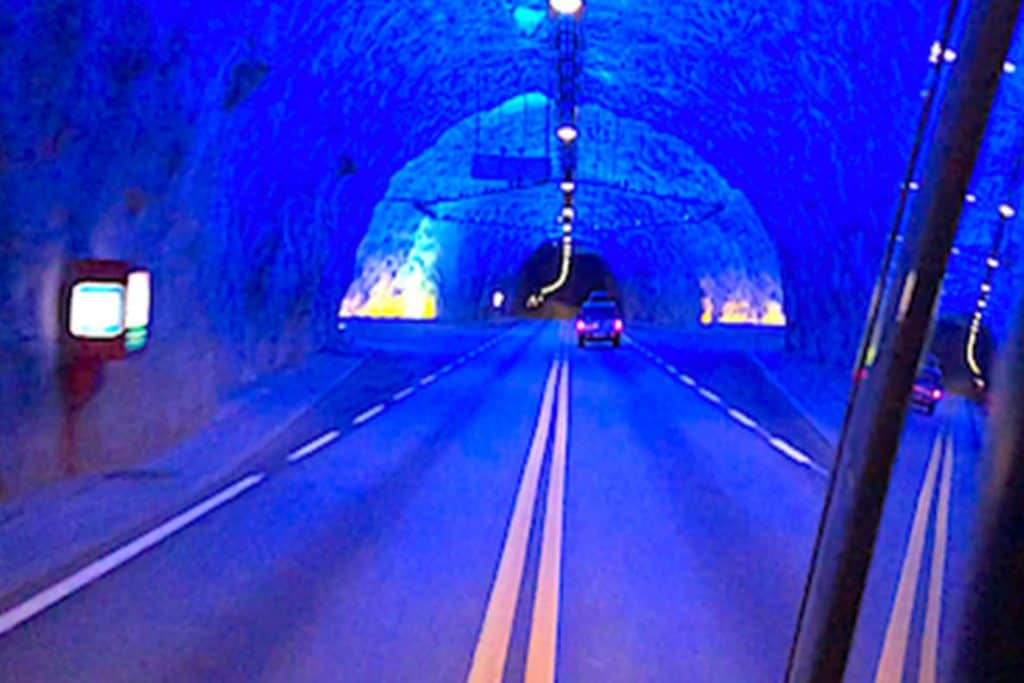 We drove the world's longest road tunnel during our Motorhome Tour of Norway. This is the longest tunnel for cars and other road vehicles anywhere in the world! #tunnel #norway #road #longest #motorhome #roadtrip #adventure #laerdal #laerdalstunnelen