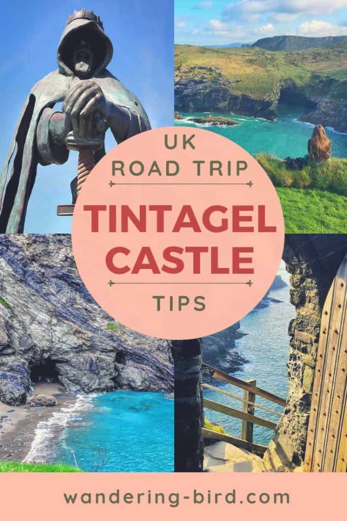 Tintagel Castle- one of the most famous castles in England. Here's how to plan your visit, when to go and what to bring! Also includes Merlin's Cave!!