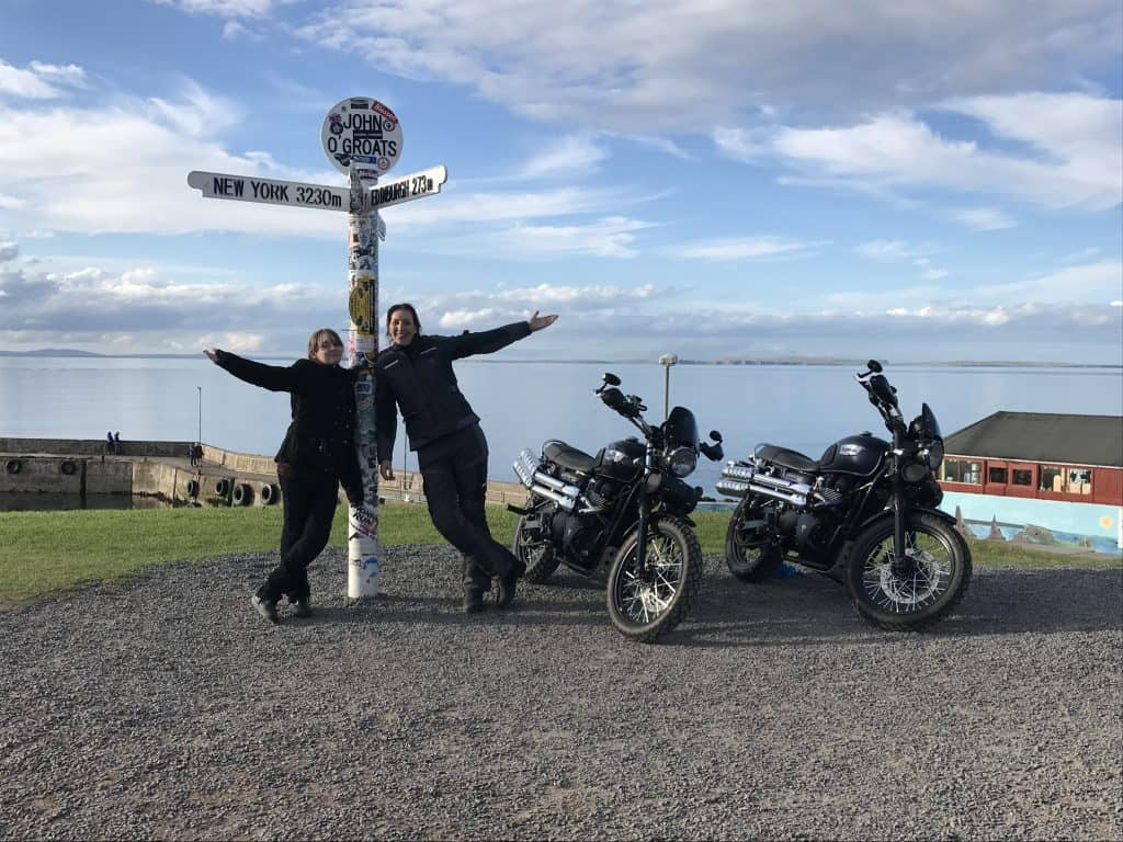 We made it to John o'Groats on motorbikes!