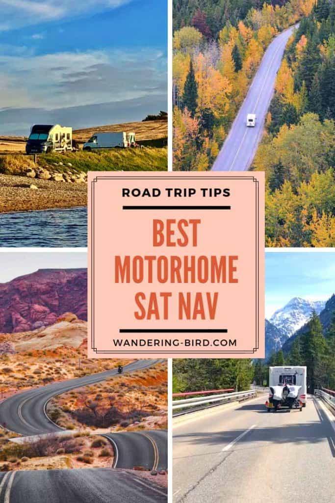What is the best sat nav for motorhomes and RVs? #motorhome #satnav #roadtriptips #roadtrip #traveltips