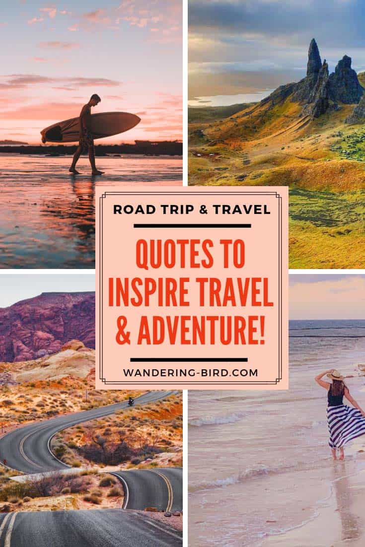 The best Travel & Road trip quotes. Looking for more funny and inspirational road trip & travel quotes? Click to read over 50 of the best! #roadtripquotes #roadtrip #inspirationalquotes #quotes #travel #travelquotes