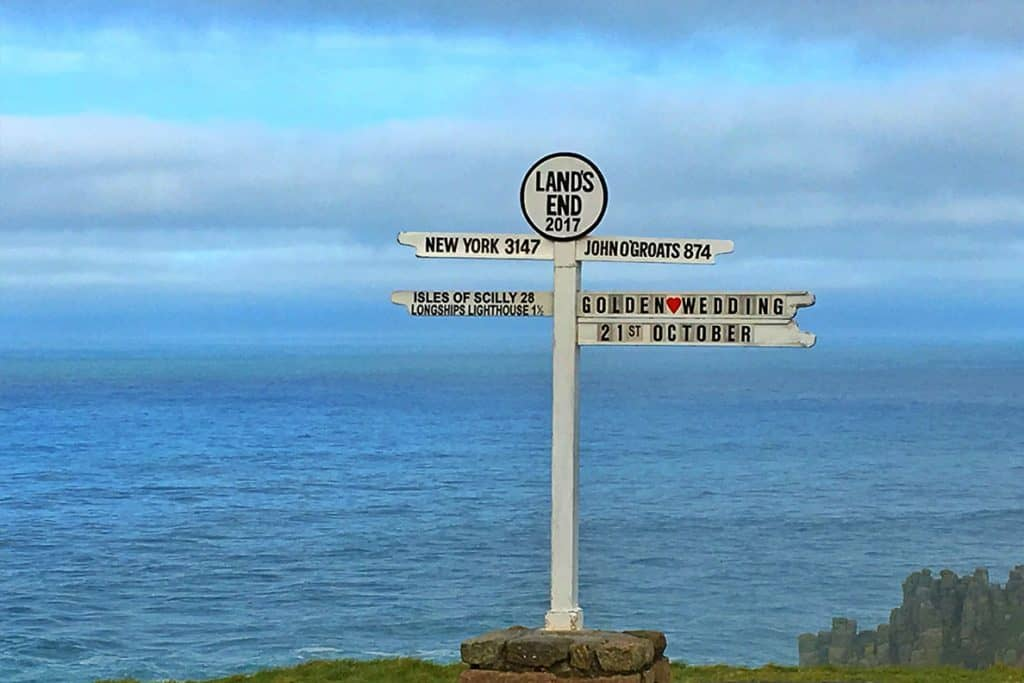 Cornwall Road Trip places to see- Land's End in Cornwall.