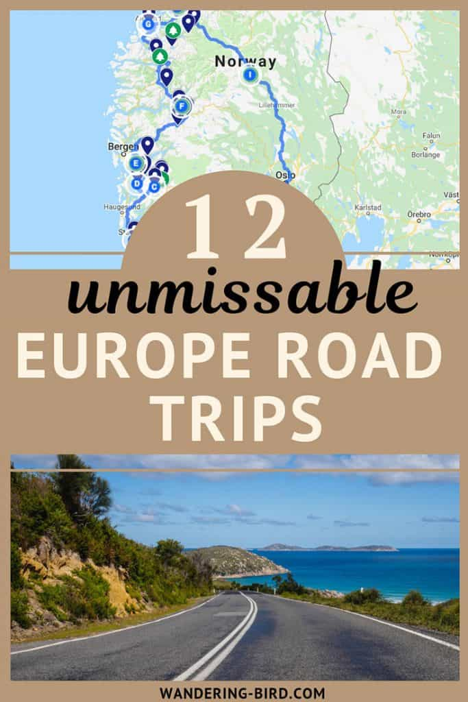 This post has the BEST Europe road trip routes and destinations. I was so inspired to book my next trip to Europe and try them out! Great maps, itineraries and travel tips, as well as destination guides and ideas for every budget and traveller. Thank you! #europe #roadtrip #traveltips #route #itinerary