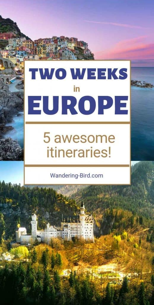 Looking for Europe Itinerary ideas? Here are 5 of the best 2 week Europe itineraries- full of beautiful places to see in Summer or Winter,either backpacking, road trip or by train. These Europe itinerary ideas are for Northern, Southern, Central and Western Europe and include maps and itinerary planner templates, as well as budget ideas for your Europe trip.