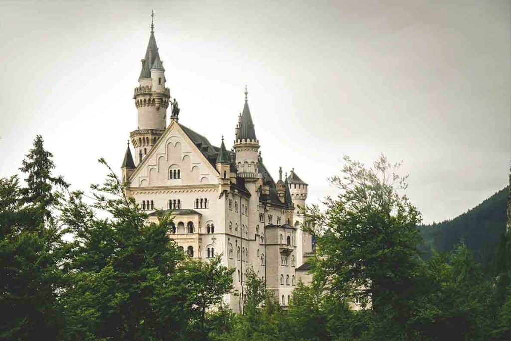 Neuschwanstein Castle- the famous castle which inspired Disney for Cinderella and Sleeping Beauty castles! Germany, Europe famous castle