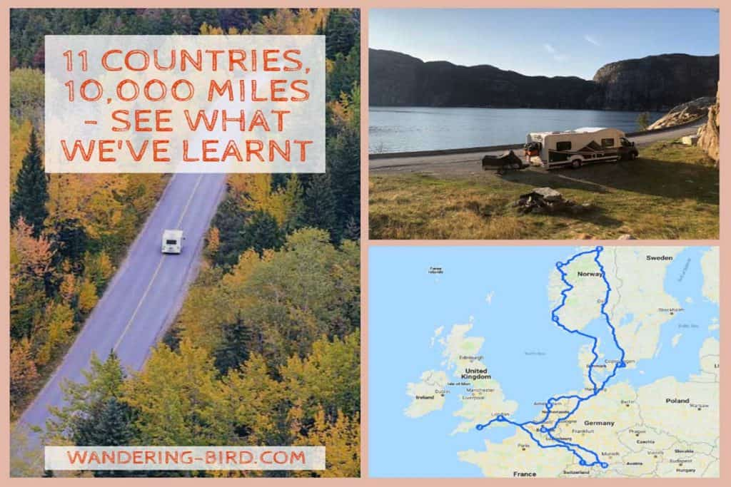 11 Countries, 10,000 miles- this was our Europe Road Trip itinerary for 2018. #itinerary #europe #roadtrip #vanlife #motorhome #travel #tips #hacks #map
