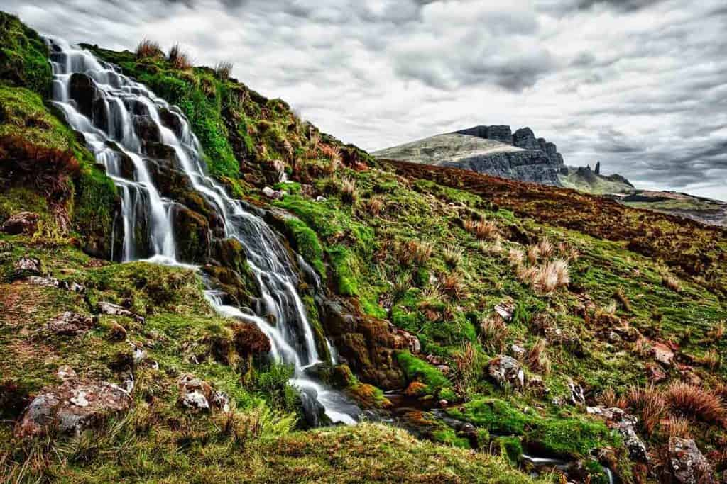 Bride Veil Falls- Isle of Skye waterfalls- Stop one on the Isle of Skye Itinerary
