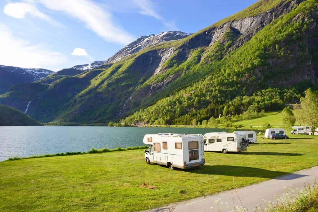 One of the many incredible motorhome, campervan & caravan campsites in Europe