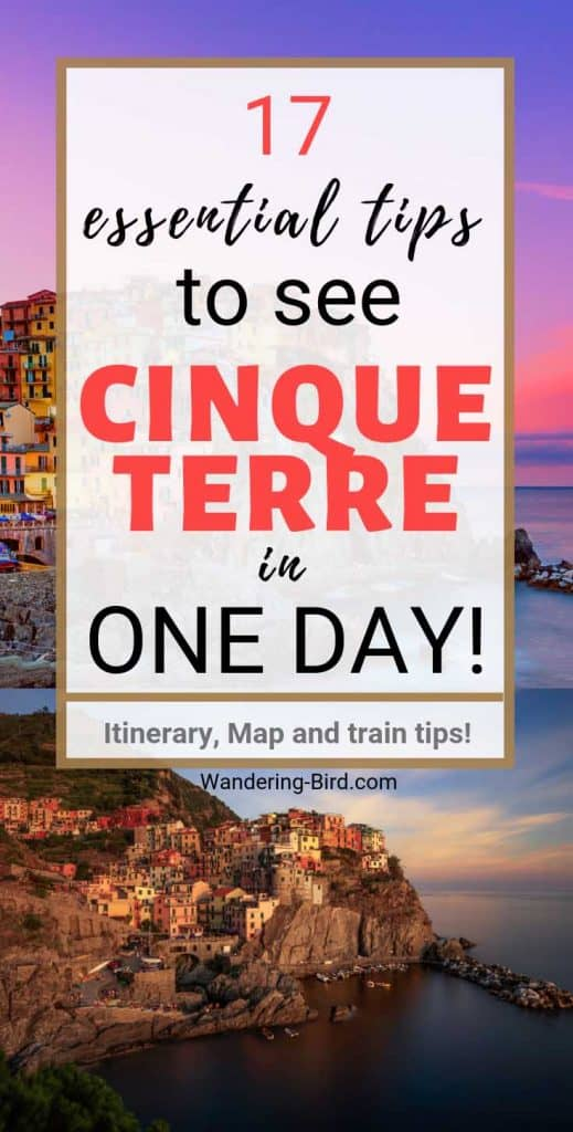 Cinque Terre is definitely doable in one day- if you're organised. Here's our one day in Cinque Terre itinerary, with map and train guide. Showing all 5 towns, plus some extra, including travelling with a dog to Cinque Terre and how to avoid our biggest mistake! #cinqueterre #italy #smalltowntravel