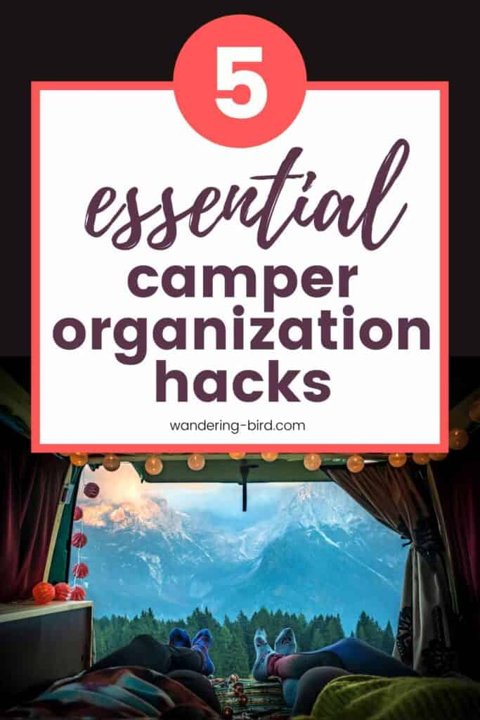 essential campervan storage ideas and organization hacks for motorhomes RV and campers. Best small campervan clothes storage ideas
