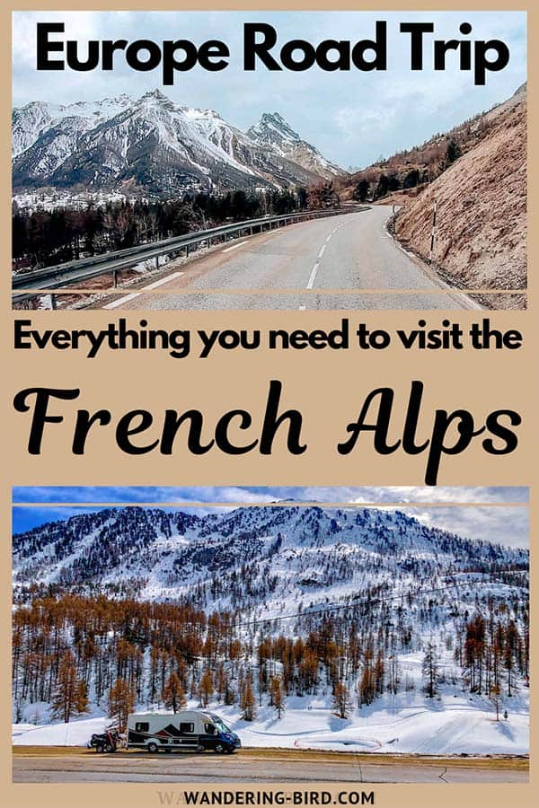 Visiting the French Alps is a brilliant road trip. Whether it's summer or winter, the Mountains in the Alps are beautiful and there's plenty to do. We highly recommend adding the French alps to your Europe itinerary. #alps #francetravel #mountains #europetravel