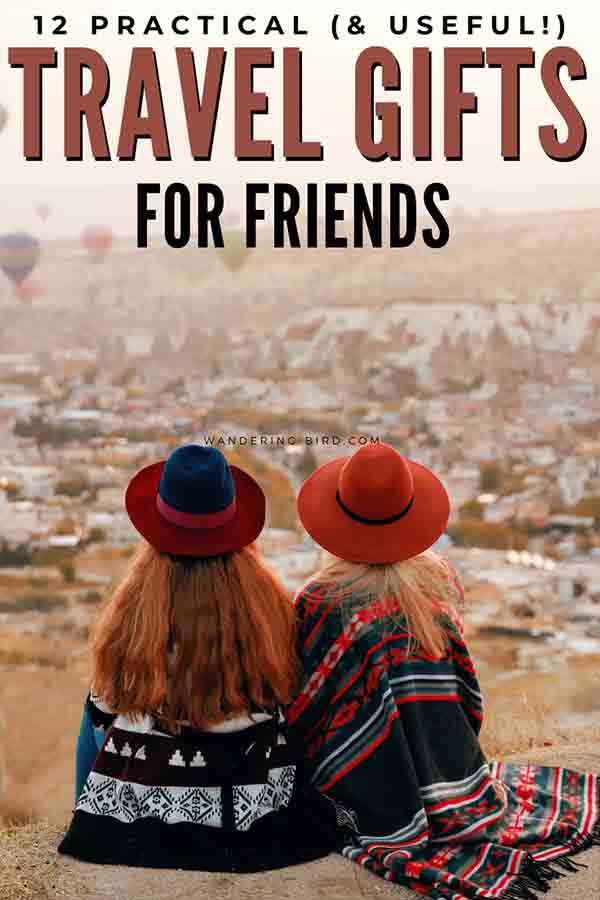 Gift for friend going travelling. Useful present ideas for women or friend going travelling