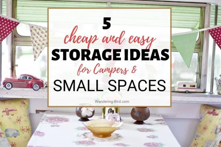 The best campervan storage ideas and motorhome hacks for organisation. Small campervan clothes storage ideas and tips.
