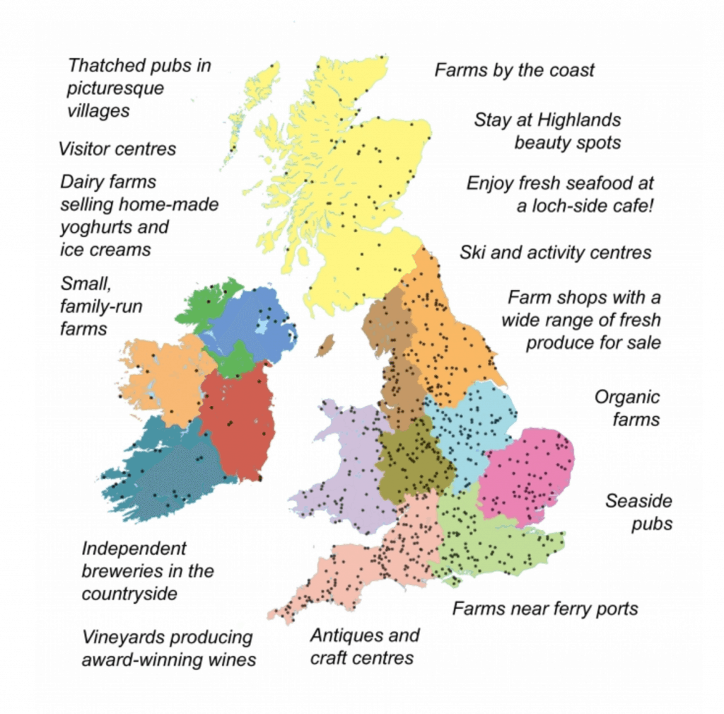 Map of Brit Stops