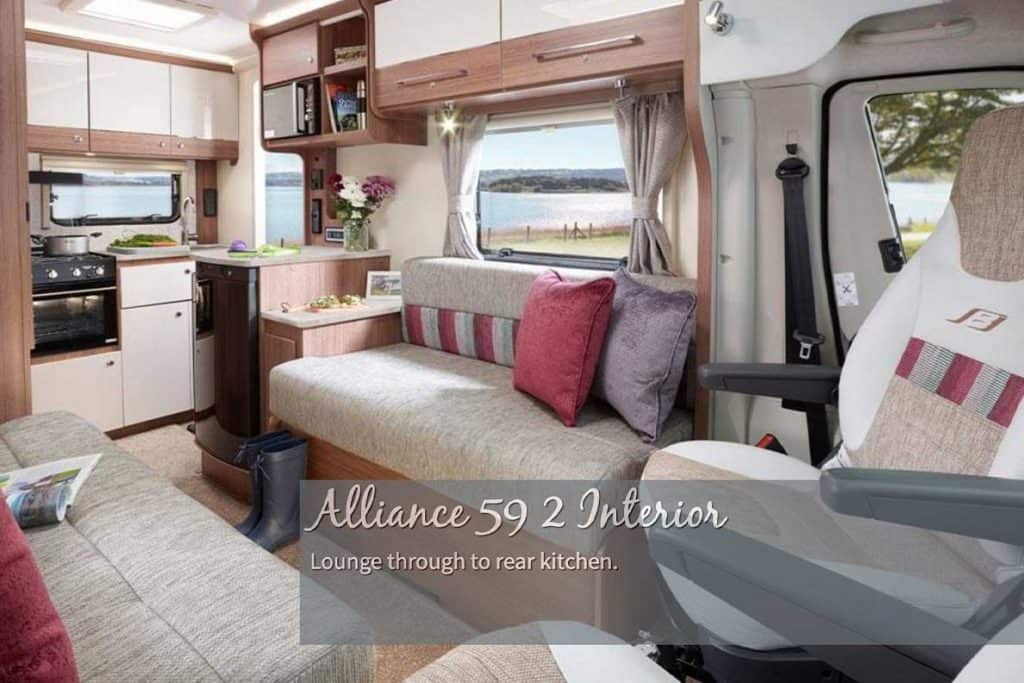 Interior of the Bailey Alliance 59-2 Motorhome
