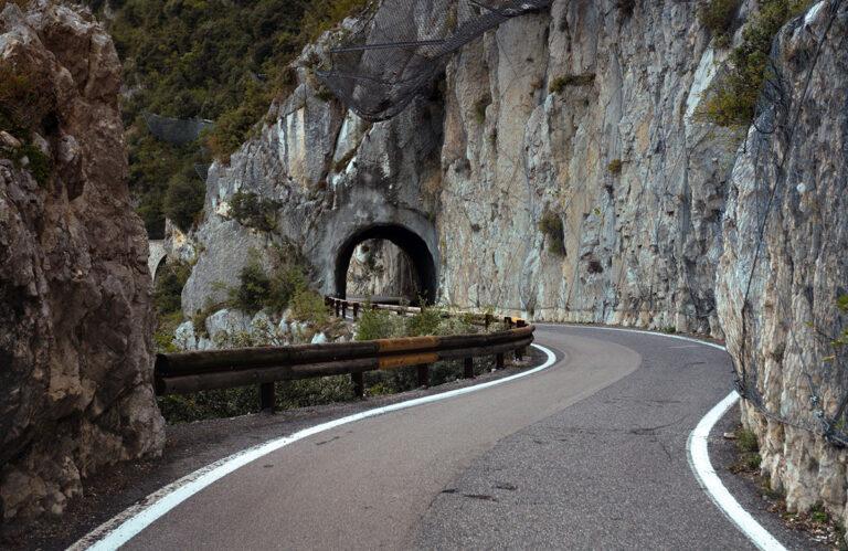 Strada Della Forra- Italy gorge road near Lake Garda