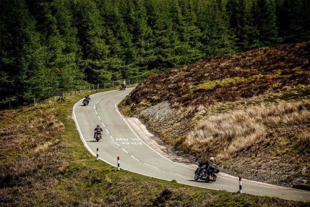 Bikers on a UK road trip