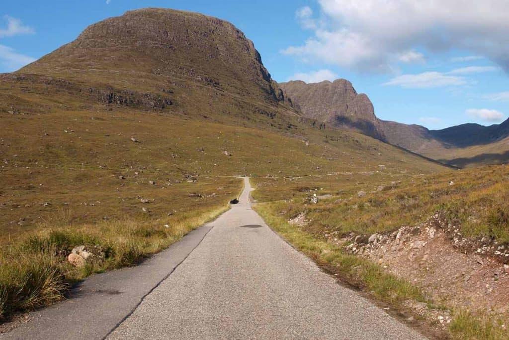Narrow road on a UK road trip