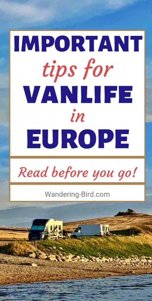 Planning your vanlife travel in Europe? Wondering if you can even live in a van and travel Europe? This guide is PERFECT for you. Everything you need to know about budgets, currency, finding FREE places to stay, essential kit to carry in your camper and more! Have an awesome European road trip. #vanlife #europe