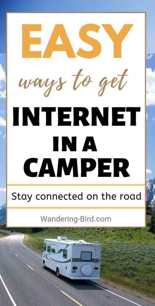 Internet in a campervan or Motorhome