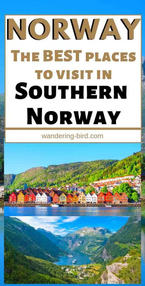 Looking for places to visit in Southern Norway? Whether you're visiting in summer or winter, these are the BEST places to visit in South Norway on a road trip or tour. Fjords, waterfalls, towns, cities and the BEST things to see. There's also a MAP so you can plan your trip. #norway #norwaytips #roadtrip #southern