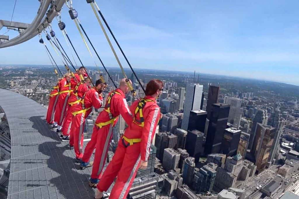 CN Tower Edgewalk- unique things to do Toronto