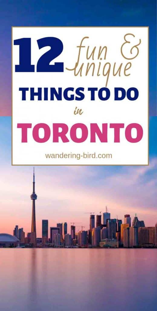 Looking for fun and unique things to do in Toronto? Here are 12 of the best! Whether you're visiting in summer or winter, rain or shine, these activities are all UNIQUE to Toronto and perfect ways to enjoy this fantastic city. Which one do you want to do first?