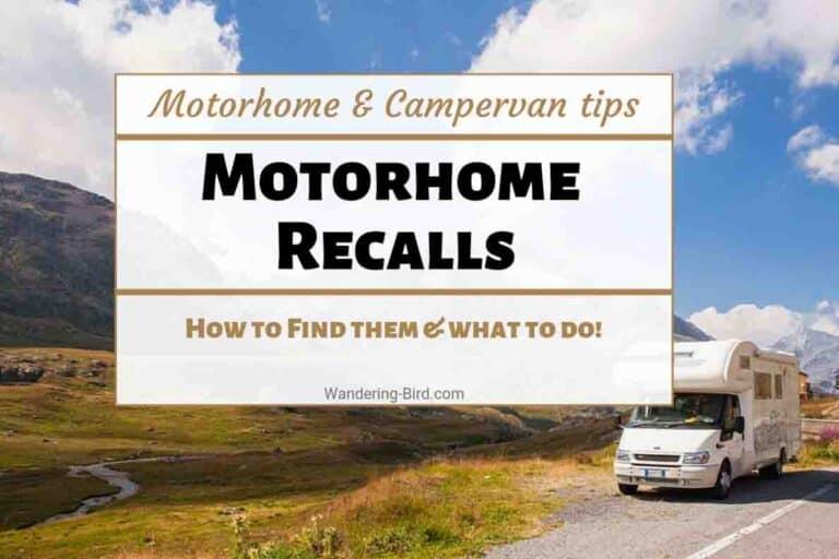 Motorhome Recalls and Campervan vehicle recalls
