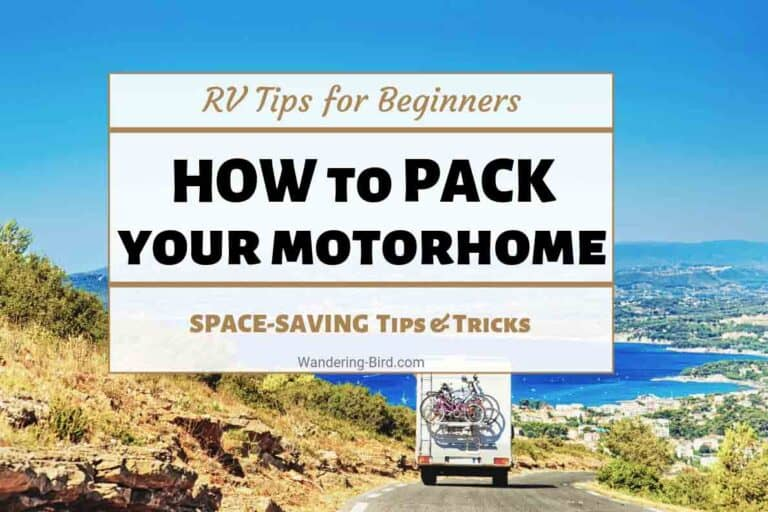 How to pack your motorhome- RV camper packing tips for beginners