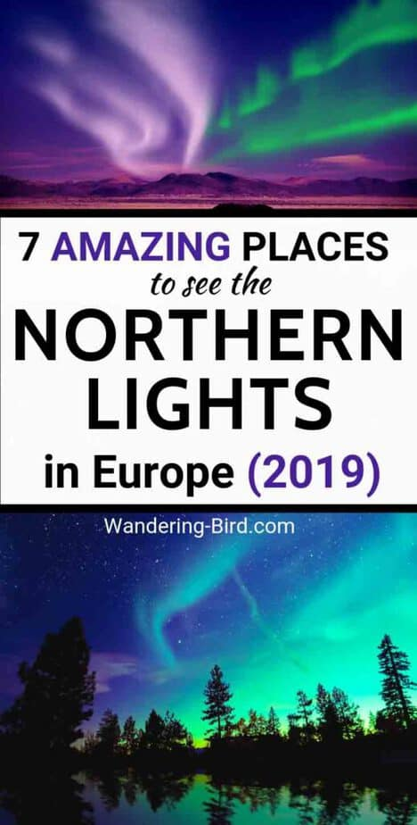 Planning a trip to see the Northern Lights? Try one of these 7 BEST places in Europe. | Northern Lights Iceland | Northern Lights Norway | Northern Lights Finland | Northern Lights Europe | Northern Lights Hotel | Book Northern Lights | Places to see Northern Lights Europe | Northern Lights Sweden
