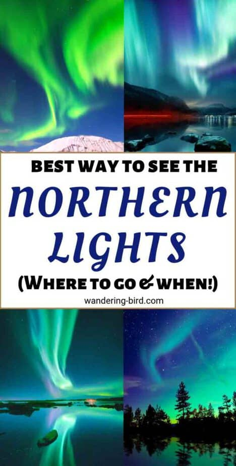 Want to see the Northern Lights in 2019? Here are the BEST places in Europe to go and WHEN! All of them are PERFECT winter destinations to see the Aurora Borealis | Northern Lights Iceland | Northern Lights Norway | Northern Lights Finland | Northern Lights Europe | Northern Lights Hotel | Book Northern Lights | Places to see Northern Lights Europe | Northern Lights Sweden