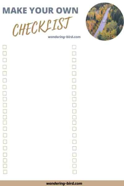Printable RV checklist- Packing a camper lists. 7 essential RV checklists to download and print at home.