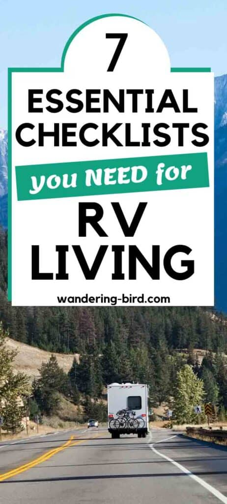 RV Living checklists for RV life tips & hacks.