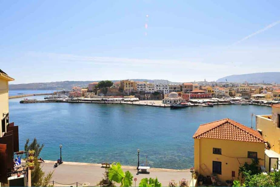 The coastal villages of Chania, Crete.