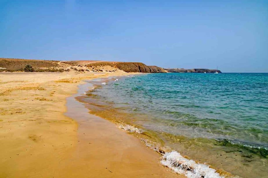 The beautiful sandy beaches of Lanzarote.
