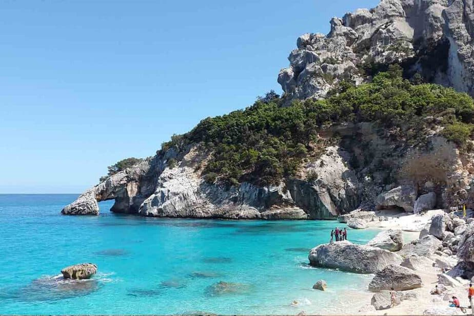 Sardinia- one of the hottest places in Europe in February, January and March