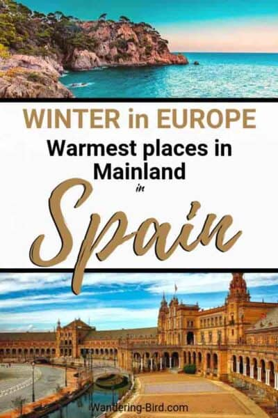 Looking for Places to Visit in Spain in Winter? Want Spain Travel tips to visit Barcelona, Valencia, Malaga, Costa del Sol or Marbella during winter? These are the warmest places in Mainland Spain during winter. Spain Travel Tips | Places to visit in Spain | Winter in Europe | Winter in Spain | Cities in Spain | Spanish destination tips | Things to do in Spain