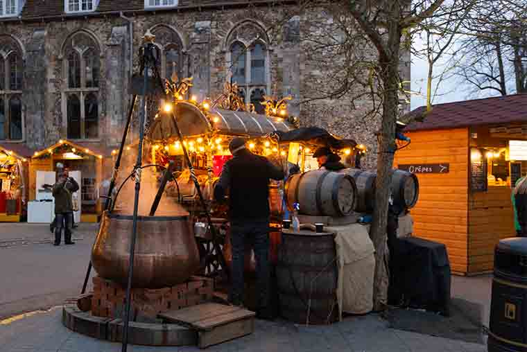 Winchester Christmas Market - one of the best in the UK