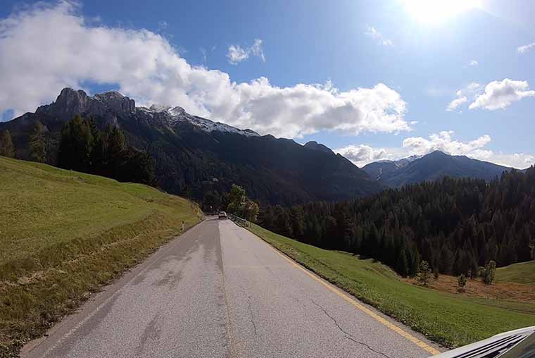 Driving the Great Dolomites Road with a motorhome, campervan, car or motorbike
