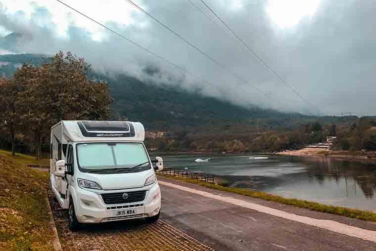 Motorhome in the Italian lakes